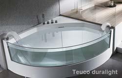 Vasca Da Bagno Angolare Con Vetro : Vasca idromassaggio di lusso da bagno nero con vetro luce led